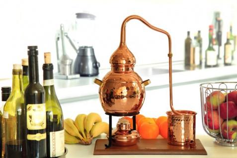 """"""" CopperGarden®"""" Destillieranlage 2L Alembik mit Spiritusbrenner - Vorschau 3"""