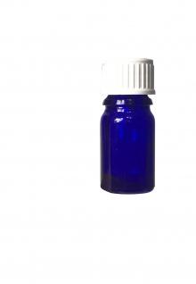 Blauglasflasche 5 ml mit DIN18 Gewinde & Deckel - Vorschau 3
