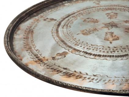 Antikes Kupfertablett Größe XL = 61 - 72 cm Durchmesser