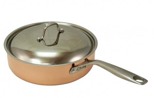 B'Chef Sauteuse 28 cm = 4, 5 Liter mit Deckel - Stahlboden für Induktion