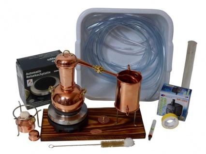 CopperGarden® Destillieranlage ARABIA SUPREME 0, 5 Liter Tischdestille im Sorgenfrei Paket mit allem Zubehör