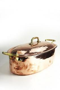 coppergarden br ter aus kupfer 40 cm gro mit deckel und griffen kaufen bei unicobres. Black Bedroom Furniture Sets. Home Design Ideas