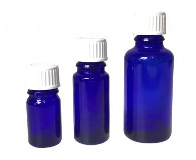 Blauglasflasche 5 ml mit DIN18 Gewinde & Deckel - Vorschau 5