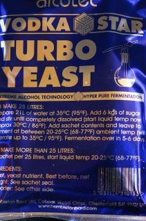 """ Alcotec"" Turbohefe Vodka Star, 14 % in 5 -6 Tagen - Vorschau 4"
