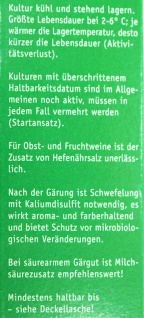 """ Arauner"" Hefe-Lebendkultur "" Malaga"" (20ml) - Vorschau 3"