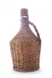 Glasballon im Weidenkorb - 5 Liter Demijohn - ohne Korken