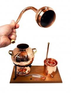 """"""" CopperGarden®"""" Destillieranlage 2L Alembik mit Spiritusbrenner"""