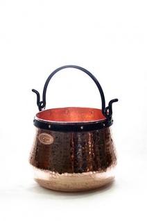 CopperGarden® Kupferkessel 10 Liter - Hexenkessel aus blankem Kupfer
