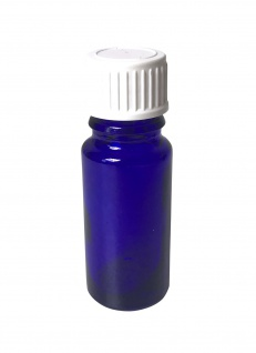 Blauglasflasche 10 ml mit DIN18 Gewinde & Deckel