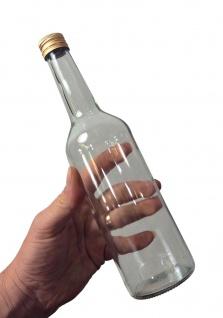 Spirituosenflasche, 0, 35L Klarglas inkl. Schraubdeckel - Hydrolat- und Schnapsflasche