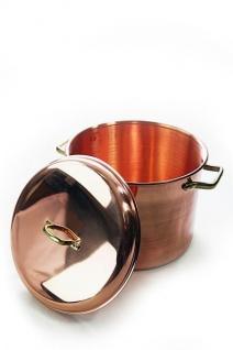 """"""" CopperGarden"""" Kupfertopf 12L, glatt mit Griffen & Deckel"""