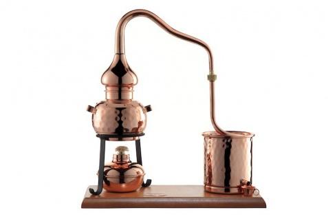 """"""" CopperGarden"""" Destillieranlage ALEMBIK 0, 5 Liter mit Spiritusbrenner"""