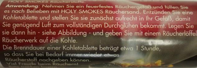 """"""" Berk"""" Räucherkohle, schnellzündend, 10 Stück, 4 cm - Vorschau 3"""