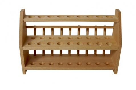 Reagenzglasgestell aus Holz ? XL für 27 (18 +9) Reagenzgläser - Vorschau 2