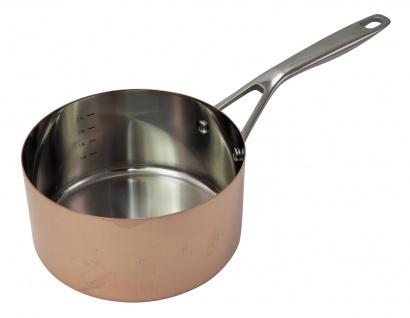 B'Chef Kasserolle 20 cm = 3 Liter mit Stahlboden = Induktionsgeeignet