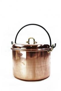 """"""" CopperGarden®"""" Kupfertopf 18L, glatt mit Henkel & Deckel"""