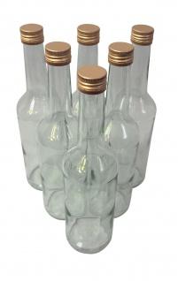 6 x Spirituosenflasche ? 0, 5 Liter ? mit goldenem Schraubdeckel - Vorschau 5