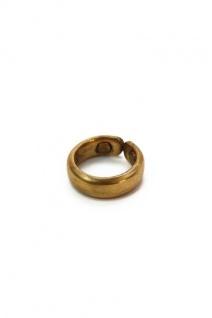 Kupferring, gewölbt mit Magneten, vergoldet
