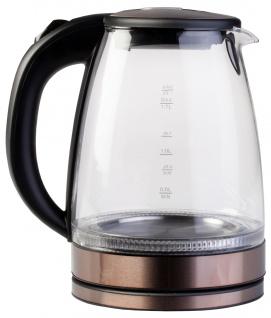 """"""" Ardes"""" elektrischer Wasserkessel """" Ketty"""" 1, 7 Liter - Glas & Edelstahl in Kupfer"""