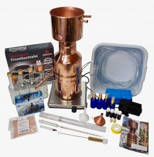 CopperGarden® Destille Leonardo 3 Liter - Sorgenfrei Paket mit allem Zubehör