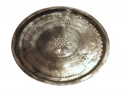 Antikes Kupfertablett Größe M = 40 - 45 cm Durchmesser