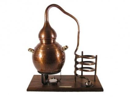 """"""" CopperGarden®"""" Flaschenhalter """" Alembik 2, 5L"""", oxidiert für Wein & Spirituosenflaschen bis 1 Liter"""