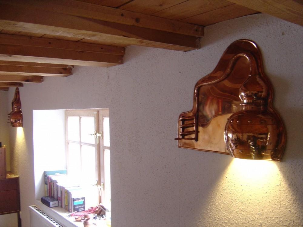 coppergarden wandlampe aus kupfer gl nzend kaufen bei unicobres gmbh co kg. Black Bedroom Furniture Sets. Home Design Ideas