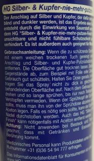 """"""" HG"""" Kupfer Glanz Versiegelung 200ml Spray - Sllber & Kupfer Finish - Vorschau 4"""