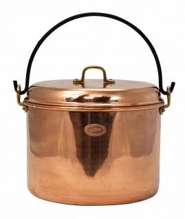 CopperGarden® Kupfertopf 12L, glatt mit Henkel