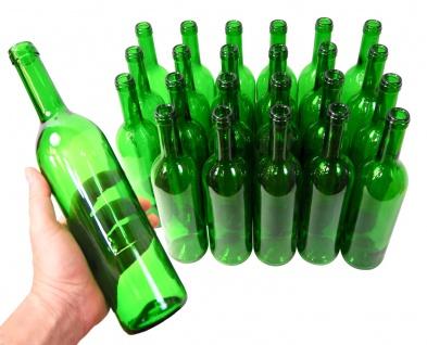 24 x Weinflaschen Bordeaux ? 0, 75 Liter ? grün - Vorschau 4