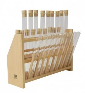 Reagenzglasgestell aus Holz ? XL für 27 (18 +9) Reagenzgläser - Vorschau 4