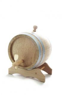 Holzfass mit Ständer 3L, Eichenholz natur, trocken