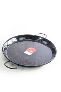 """"""" Vaello"""" Paellapfanne (55 cm) schwarz emailliert - für bis zu 16 Personen. Original aus Spanien"""