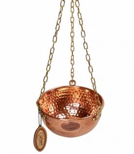 """"""" CopperGarden®"""" Hängende Kupferschale 1 Liter - mit Ketten und Griff"""