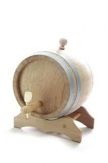 Holzfass mit Ständer 5 Liter, Eichenholz, natur, trocken