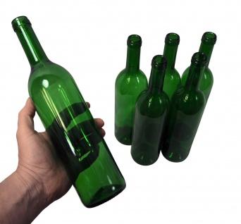 """6 x Weinflasche """" Bordeaux"""" ? 0, 75 Liter ? grün - Vorschau 3"""