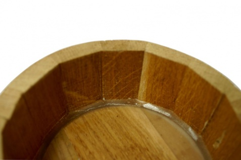 Holzfass mit Ständer 2L, Eichenholz natur, trocken - Vorschau 4