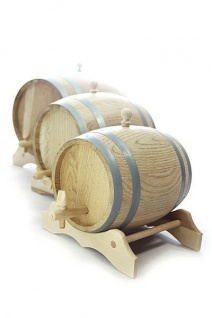 Holzfass mit Ständer 2L, Eichenholz natur, trocken - Vorschau 3