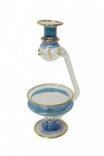 Aromalampe aus Glas - blau