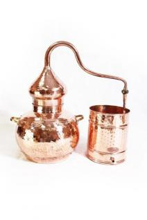 """"""" CopperGarden®"""" Destille Alembik 20 L, genietet mit Thermometer"""