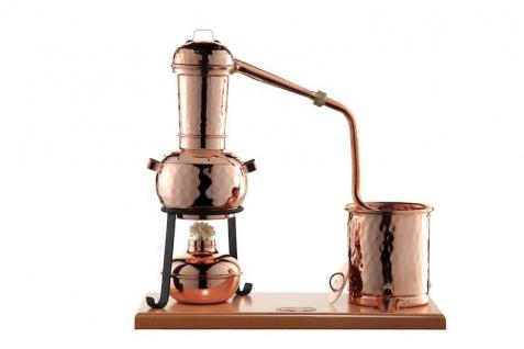 """"""" CopperGarden"""" Destillieranlage ARABIA 0, 5 Liter Tischdestille mit Aromasieb & Spiritusbrenner"""