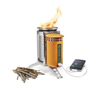 """ BioLite"" CampStove USB Holz-Kocher mit LED Flexlight"