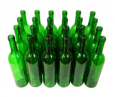 24 x Weinflaschen Bordeaux ? 0, 75 Liter ? grün - Vorschau 2