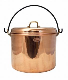 """"""" CopperGarden"""" Kupfertopf 18L, glatt mit Henkel & Deckel"""