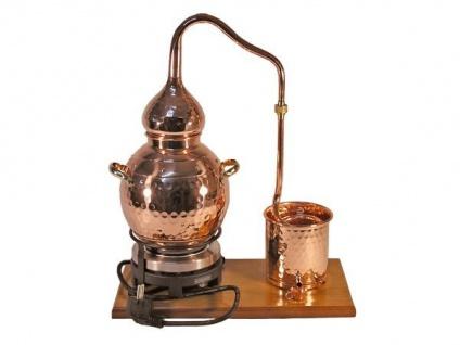 """"""" CopperGarden"""" Destillieranlage Alembik 2 Liter mit elektrischer Kochplatte"""