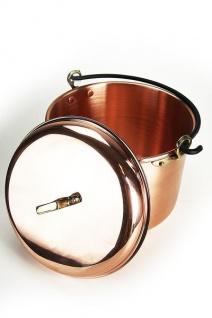 CopperGarden® Kupfertopf 12L, glatt mit Henkel - Vorschau 1
