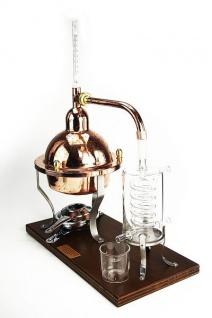 """"""" Ferrari"""" Destillieranlage KRISTALL 1 Liter mit Thermometer und Glaskühler"""