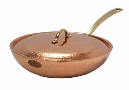 """"""" CopperGarden®"""" 28 cm Kupferwok mit Deckel - verzinnt"""