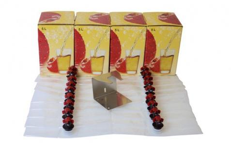 SET: 20x Bag in Box Beutel (5L) & 4 Kartons & Ständer
