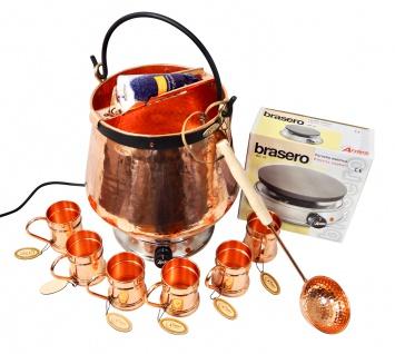 CopperGarden® Feuerzangenbowle ? 20 Liter Kupferkessel ? mit allem Zubehör - Vorschau 2